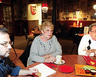 Undecided voters, from left to right, Larry Tropepe, Mary Lou Hoon and Bill Sutherin.