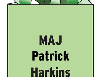 MAJ Patrick Harkins HHC/2-35 IN3 1 BCT 25th ID FOB Brassfield-Mora APO AE 09393 Married to the former Maria Ramunno of Struthers.