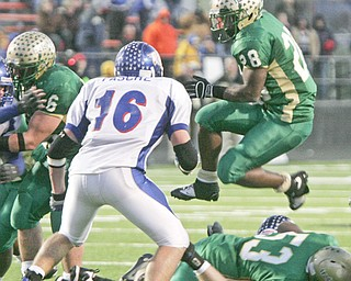 Ursuline football vs. Liberty-Benton. Victory goes to Ursuline.