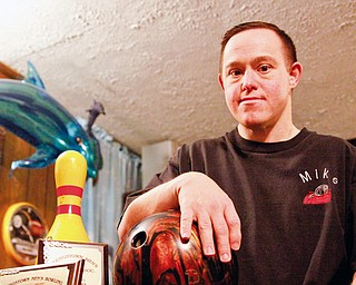 Mike Baltes (36) of Youngstown accomplishes his 2nd life goal of bowling a perfect game within months of achieving the first of swimming with dolphins.