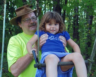 Grandpa Duane VanAuker with Isabelle Crissinger of North Jackson. Photo from Lana VanAuker of Canfield.