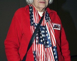 SUPPORTIVE: Dorothy McLaughlin, who lost her husband in the Battle of the BUlge in World War II, joined the veterans at St. Christine Church on Sunday.