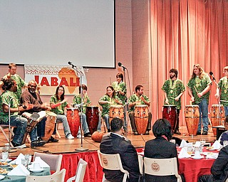 The Kent State University African Ensemble kicks off the ninth Jabali celebration at Youngstown State University. The group's traditional African performance with various pieces of percussion set the tone for a night of inspiration and reflection.
