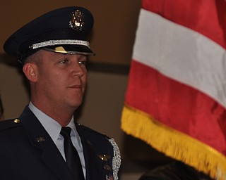 An honor guard presents the colors at the opening ceremonies of First Night Youngstown 2009