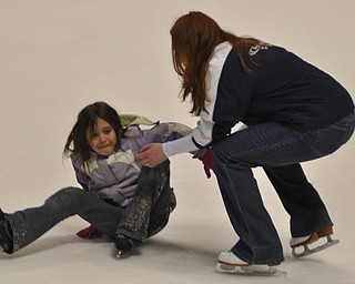 Ice skating at the Chevy Centre as part of First Night Youngstown 2009