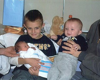 Bill Valentino's third grandson,Vas, was born 11/11/08, shown here with cousins Anthony and Kevin.
