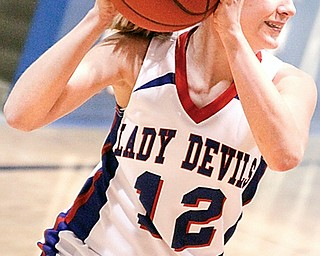 Lady Devil Matti Shahaden (12)  looks to pass the ball,