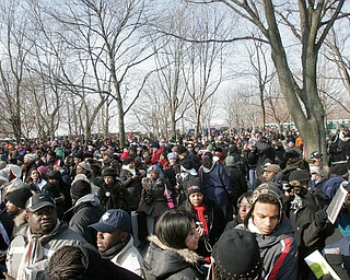 Crowd on mall during swearing in