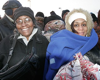 Mary Weaver and her daughter Charise Weaver, of Youngstown, during the inauguration