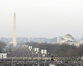Large crowds gather for Barack Obama's Presidential Inauguration 2009 in Washington DC