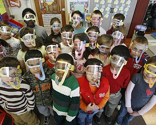 Students in Mrs Holly  Watts class donned their homemade mask and snorkel outfits  as Right to Read week activities got underway at Robinhood Elementary in Boardman -
