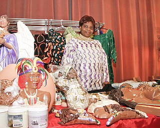 Miss Agnes Nsam is from Cameroon in West Africa, She's been a vendor at YSU's African Marketplace for Black History Month since 2005 , Saturday February 7, 2009