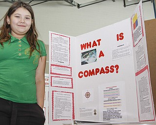 McGuffey 5th Grader Tabatha West (11) displayed her project at the Youngstown City Schools All-City Science Fair at East High School, Saturday February 7, 2009