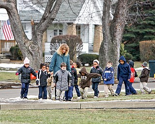 Kindergarten class at Youngstown Christian took a break and enjoyed the outdoors with their teacher Susie Hartman