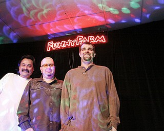 Entertainment Director Eric Stevens, Proprietor Chris Jackson and Director of Operations Steve Satterlee at Funny Farm Comedy Club