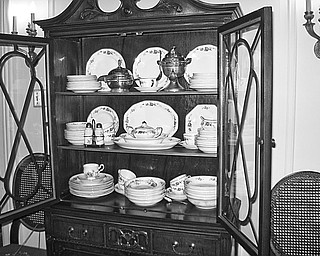 Special to The Vindicator ALL SET: This complete set of fine china produced in Niles will be among the featured displays during an open house on March 1 at the Ward-Thomas Museum.