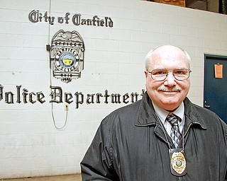 Canfield Police Chief David Blystone at the Canfield Police Station