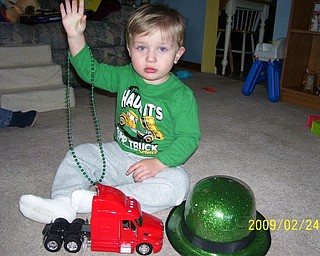 HI, GRAM! Justin Bish Jr., 20 months old, of Hubbard, is snapped here by his grandmother, Pam Filo, also of Hubbard.