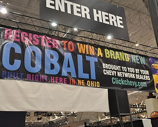 Cobalt giveaway at the 2009 Cleveland Auto Show