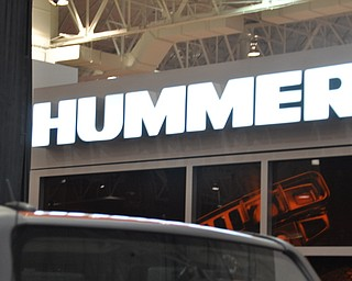 Hummer display at the 2009 Cleveland Auto Show