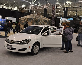 Saturn Aura at the 2009 Cleveland Auto Show