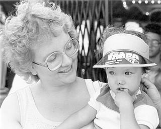 Enjoying last days of the park.  Idora Sept. 8 1984