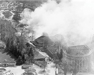 Apr. 26, 1984 Aerial shot of the fire.