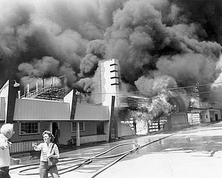 Apr. 26, 1984 Park offices burn out of control.