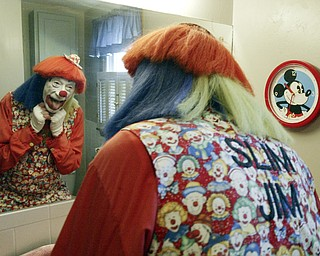 """""""Slim Jim"""" also known as Jim Giles of Boardman has been an Aut Mori Grotto Clown for 40 years."""