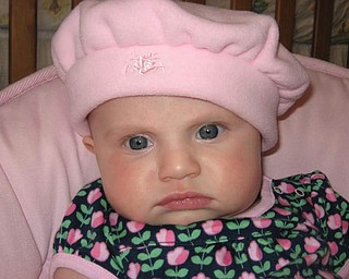 ISABELLA LAMONT, 4 months old, is the daughter of Keith and Ronda LaMont of Parma Heights, formerly of Lowellville. Her grandparents are Ron and Cindy Perry of Lowellville.
