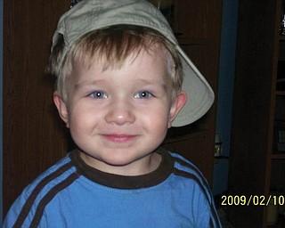 JUSTIN BISH, 22 months, of Hubbard; photo taken by Pam Filo of Hubard, his grandmother.