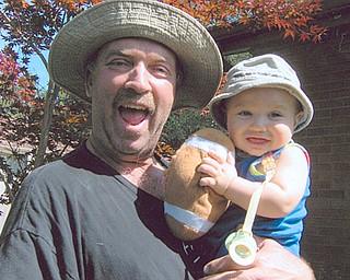 Grandpa is Kim Boehlke, and baby is Andrew James Boehlke.