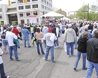 Downtown Warren rally - E.N.O.U.G.H. - Saturday May 2, 2009