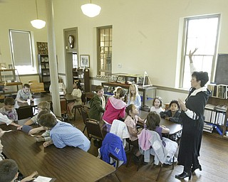 Poland Union second graders visit the Little Red School House.