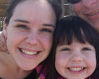 Kari Smith, 27, of Belpre, and McKenzy Smith, 3.