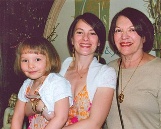 Bunny Rafoth, right, with her daughter, Laney Rafoth Pinciaro, 31, and granddaughter, Gianna Pinciaro, 4. All live in Boardman.