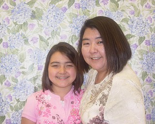 Jane Haggerty and Emily Haggerty, who will turn 10 on Monday, of Youngstown.