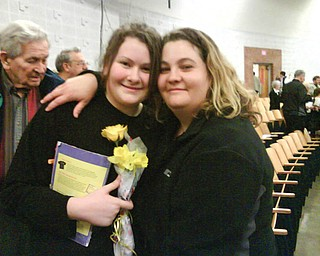Can you believe this?? Aileen Kelly Rebic, 32, of Struthers is pictured with her goddaughter, Lauren Kelly Moliterno, 14, of Boardman.