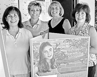 """<p>Special to The Vindicator</p> <p>SIGNED UP: Among those prepared for the golf shamble on June 1 at Trumbull Country Club, are, from left, Colleen Vaughn, Carol Gibson, Beverly Boyle and Donna Phillips, volunteers for the """"Play It For The Kids"""" benefit outing.</p>"""