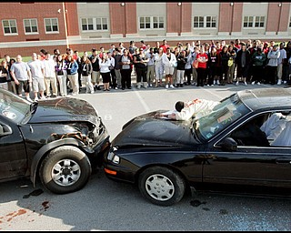 5.12.2009 New Castle HS senior students  portrayed accident victims during a mock prom night accident at the school Tuesday morning. The mock accident was to demonstrate the dangers of drinking and driving .