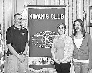 Special to The Vindicator KEYED UP: The May 13 meeting of Kiwanis Club of Western Mahoning County was attended by representatives of Jackson Milton High School Key Club, from left, Nathan Suchy, Key Club vice president; Leah Condon, Key Club adviser; and Alyssa Chine, Key Club president. Their interest in crime solving was aroused by the speaker, John Stoll, supervisory senior resident FBI Agent, who works in Mahoning, Trumbull and Columbiana counties solving financial, white collar and terrorism crimes. The Kiwanis Club supports Key Clubs at Canfield and Jackson Milton high schools. For more information call (330) 538-3041.