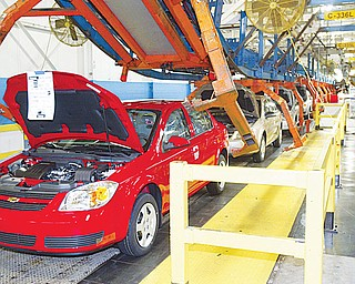 In this Vindicator archive photo, Cobalts are seen on the assembly line at GM Lordstown.