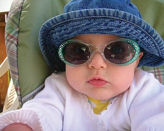 AVA ACEVEDO, 7 months, is the daughter of Rob and Toni Acevedo and granddaughter of Paula Shields, all of Boardman.