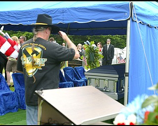 The funeral of Army Chief Warrant Officer S. Blane Hepfner at Hubbard Union Cemetery.