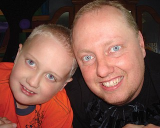 Steven Crawford, 36, and Nathan, 8, of Austintown.