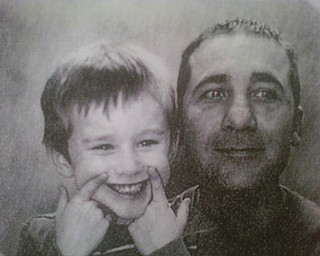 Jeff Precurato, 38, and Gavin, 4, of Austintown.