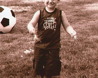 Nathan John, son of Rick and Lisa John of Austintown, is shown here on July 4, 2007.