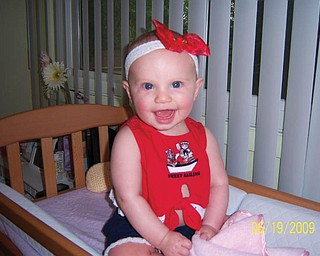 Six-month-old Isabella Marie LaMont has not yet celebrated a Fourth of July, but is ready to have some fun this year! She is the daughter of Ronda and Keith LaMont of Parma Heights and the granddaughter of Cindy and Ron Perry of Lowellville.