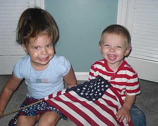 Zoe Vodhanel, 3, and her brother, Ray, 1, of Boardman are getting ready for the holiday. The picture was taken by their mommy, Kim.