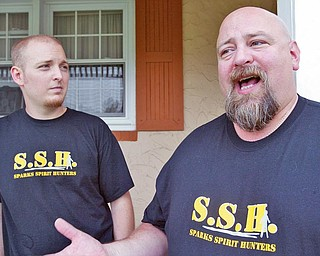 Brothers Jared, left, and Jim Sparks run Sparks Spirit Hunters. They search for ghost and paranormal activity. They are pictured here at Jared Sparks' Hermitage home.